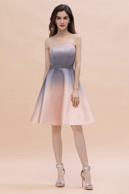 Charming Sweetheart Gradient A-Linie Short Evening Party Kleid_6