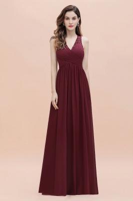 V-образным вырезом трапециевидной формы шифоновое вечернее платье макси без рукавов свадебное платье для гостей невесты_7
