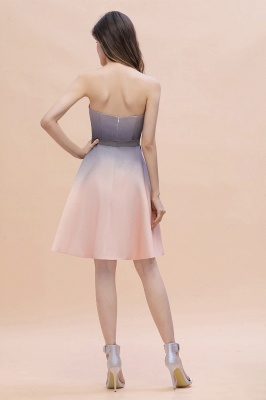 Charming Sweetheart Gradient A-Linie Short Evening Party Kleid_3