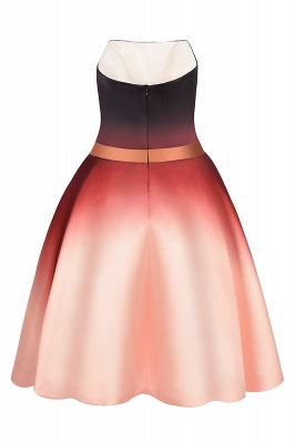 Sleeveless Gradient Satin Evening Prom Mini Dress Elegant Sweetheart Daily Dress_8