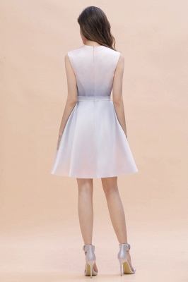 Elegant Gradient A-line Daily Casual Mini Dress Sleeveless Evening Party Dress_8