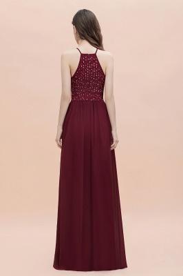 Robe de soirée trapèze licou en mousseline de soie robe longue de soirée élégante_6