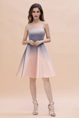 Charming Sweetheart Gradient A-Linie Short Evening Party Kleid_11