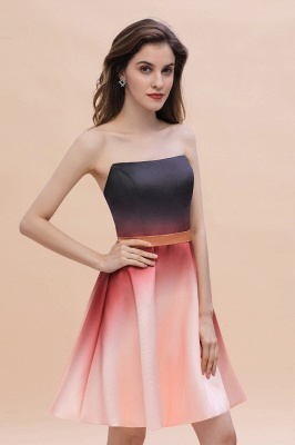 Sleeveless Gradient Satin Evening Prom Mini Dress Elegant Sweetheart Daily Dress_5