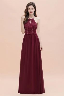 Robe de soirée trapèze licou en mousseline de soie robe longue de soirée élégante_5