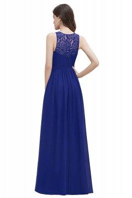 Vestido de noite de chiffon com decote em A maxi vestido sem mangas dama de honra vestido de noiva_14