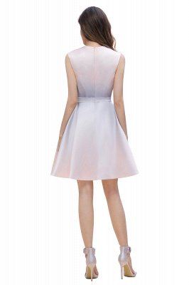 Elegant Gradient A-line Daily Casual Mini Dress Sleeveless Evening Party Dress_7