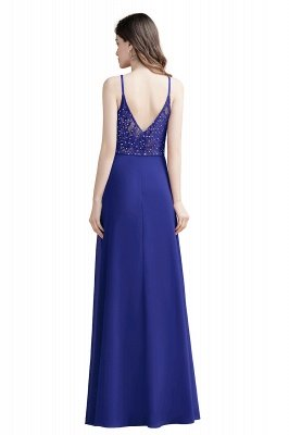 Elegant V-Neck Chiffon Evening Prom Dress for Women Straps Formal Maxi Dress_13