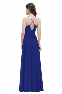 Straps Bateau A-line Sequins Evening Maxi Dress Elegant Chiffon Prom Dress_12