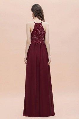 Вечернее платье трапециевидной формы с пайетками на шее, элегантное шифоновое вечернее платье макси_6
