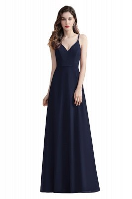 Elegant V-Neck Chiffon Evening Prom Dress for Women Straps Formal Maxi Dress_3