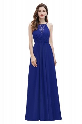 Straps Bateau A-line Sequins Evening Maxi Dress Elegant Chiffon Prom Dress_2