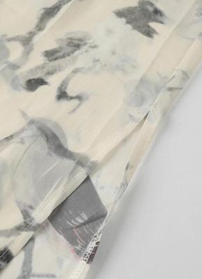 Kimono mince à imprimé floral ouvert devant pour femmes_7