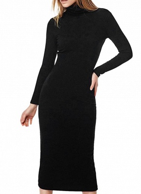 26b9bb5608b Women Turtleneck Bodycon Dress Long Sleeves Sheath Bandage Dress Evening  Cocktail Party Dress