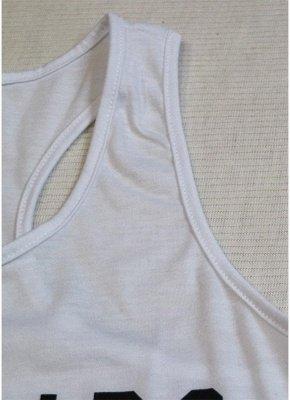 Tee-shirt décontracté sans manches à imprimé lettre_4