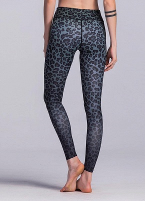 Women Sports Yoga Leggings Leopard Print Stretchy Skinny Bodycon Pants Tights Trousers_4