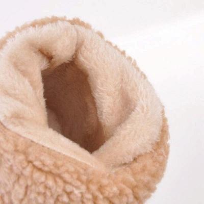 Nubuck Chunky Heel Slip-On Round Toe Boots_19