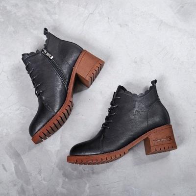 Короткие каблуки с застежкой-молнией_8