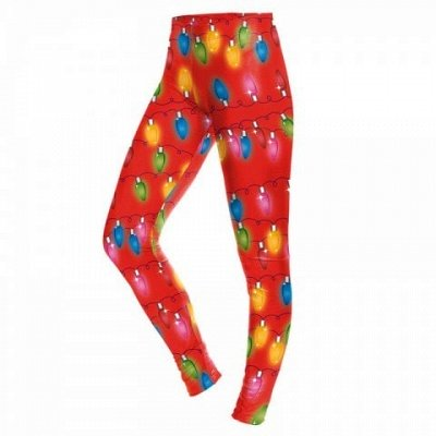 Christmas Light Pattern Print Costume Clothes Sport Leggings