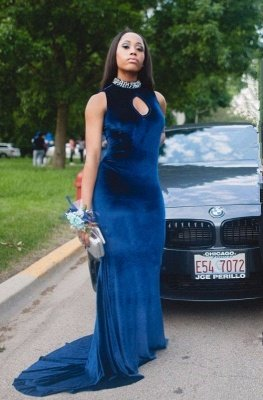 Gorgeous High-Neck Mermaid Prom Dress With Crystal_1