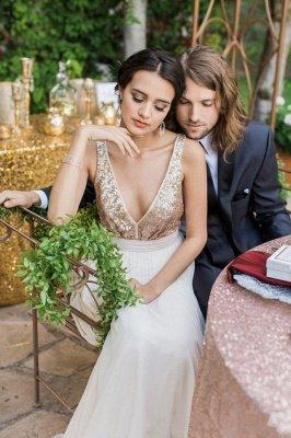 Robe de mariée longue sans manches à manches longues Bowknot_3