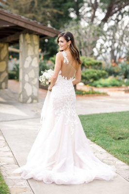 Vintage One Shoulder Mermaid Lace Bridal Gowns New Arrival Custom Made Plus Size Wedding Dress_2