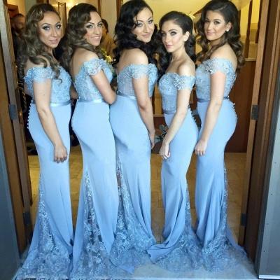 SELENE   Mermaid Off-shoulder Sweetheart Sheer Lace Appliques Prom Dresses_3
