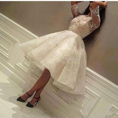 Puffy Lace vestidos de fiesta | Joyas medias mangas del regreso al hogar vestidos_3