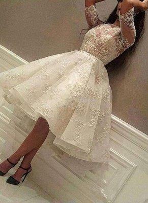 Puffy Lace vestidos de fiesta | Joyas medias mangas del regreso al hogar vestidos_1