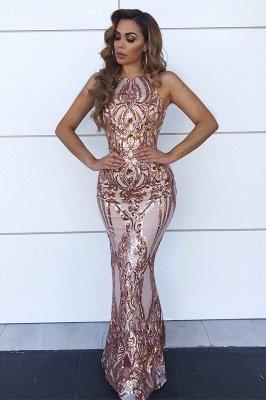 Sin mangas espalda abierta lentejuelas vestidos de baile baratos 2021 | Vestido de noche atractivo de las correas de espagueti de la sirena bc0506_1