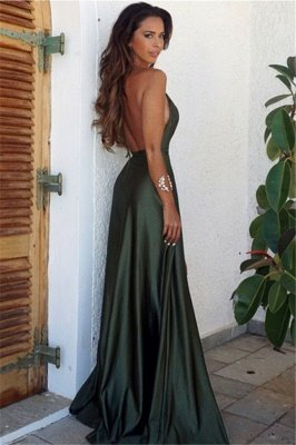Elegant V-Neck Backless Split Elegant Long Prom Dress_2