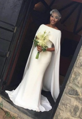 30394caa0e Vestidos de novia elegante del cabo del Shealth del cabo Shealth-Gown