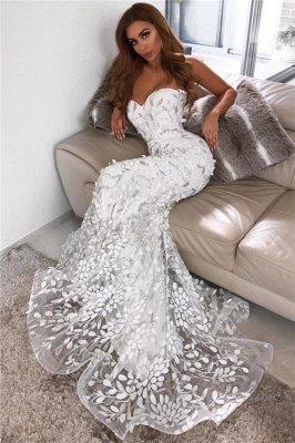 Vestidos de novia con espalda abierta y apliques de hoja de novia | Vestido de noche de tul Sheer sexy Sheer 2019