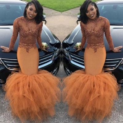Modest Lace Appliques Mermaid Long Sleeve   Prom Dress BA8084 BK0_2