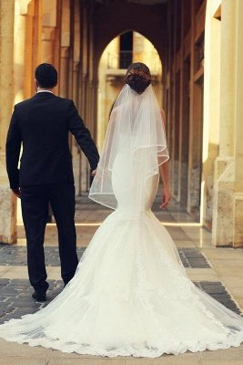 Sweetheart White Lace Sexy Mermaid Bridal Gown Latest Sweep Train Lace-Up Plus Size Wedding Dresses_5