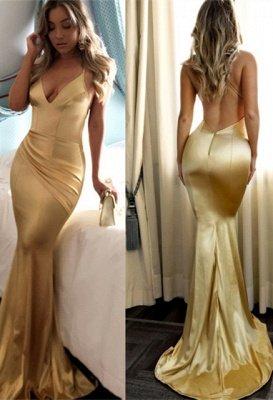 Sexy Spaghetti Strap Sleeveless Prom Dress   Simple Formal Dress_1