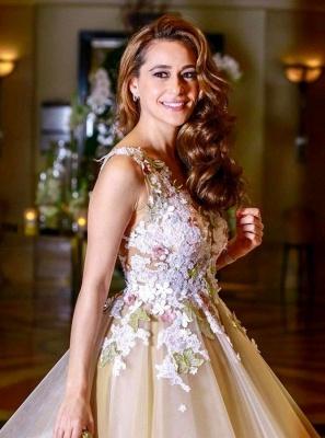 Gorgeous A-Line Flowers Homecoming Dresses | Sleeveless Open Back Short Hoco Dress_4