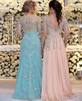 Очаровательное кружевное платье для выпускного вечера с длинными рукавами | Платье для выпускного вечера с разрезом спереди Платье для матери невесты_2