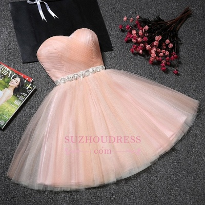 Tulle Ruffles Pink Homecoming Dress | Sweetheart Short Hoco Dress_1