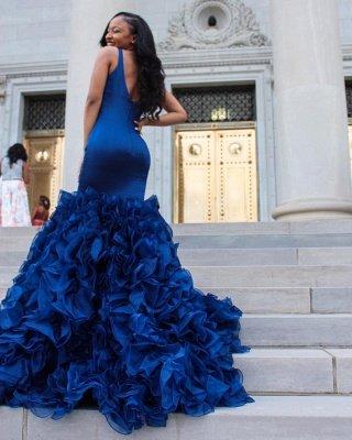 V-Ausschnitt Ballkleid | Rüschen Mermaid Abendkleid BA8435_4