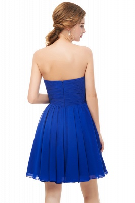 NETTIE | Aline Short Sweetheart Strapless Chiffon Blue Homecoming Dresses_7