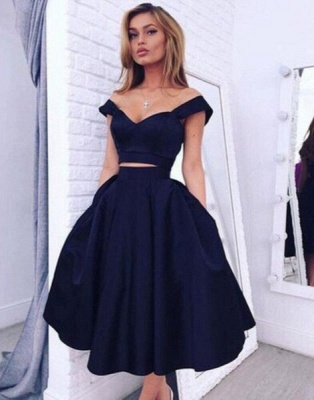 Gorgeous Two pieces Off-the-shoulder Prom Dress Short Homecoming Dress BA3609_5