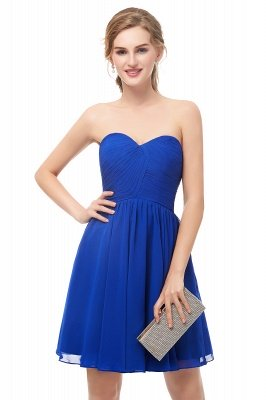NETTIE | Aline Short Sweetheart Strapless Chiffon Blue Homecoming Dresses_2