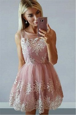 Short Pink Sleeveless Homecoming Dresses |  Sleeveless Homecoming Dresses Cheap