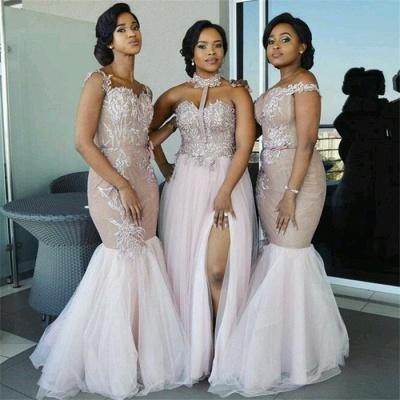 Elegant Pink Tulle Bridesmaid Dresses | Appliques Wedding Party Dress_4