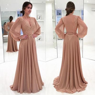 Элегантные платья V-образным вырезом с длинным рукавом Дешевые Onine   Сексуальное вечернее платье_2