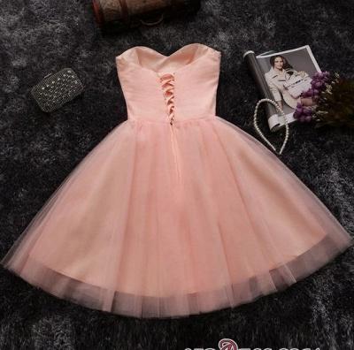 Lentejuelas cuentas vestidos de fiesta cortos | Sweetheart Coral Pink Hoco Dress BA6909_4